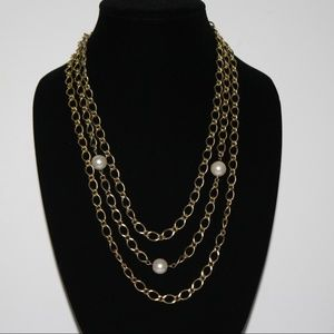 Beautiful gold and pearl necklace VINTAGE